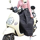 steman-net バイク用レッグカバー スクーター用 防寒 汎用 保温 防風 ポケットデザイン 防寒ひざあて シートカバー ヒザあて プロテクター レッグウォーマー ブラック