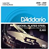 D'Addario ダダリオ バンジョー弦 ニッケル Light 5弦 .009-.020 EJ60 【国内正規品】