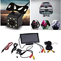 FidgetGear 5'' HD 800x480 LCD Car Rearview Monitor With 8 LED Backup Reverse Parking Camera
