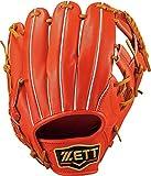 ZETT(ゼット) 野球 軟式 グラブ (グローブ) プロステイタス セカンド・ショート 右投用 ディープオレンジ×オークブラウン(5836) LH BRGB30830
