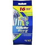 Gillette Blue II UltraGrip Pivot Disposable Shaving Razor, 16 Pack