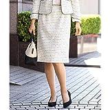 アー・ヴェ・ヴェ(a.v.v) 【セットアップ対応】ファンシーツイードスカート[WEB限定サイズ]【ホワイト/M】