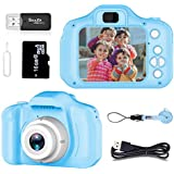 Gift for 4-8 Year Old Boys Pussan Kids Camera HD 1080P Digital Camera for Kids Video Recorder Small Cameras with Silicone Soft Cover Camcorder Best Toy for Children Party Outdoor Play Blue