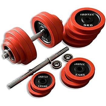 IROTEC(アイロテック) ラバー ダンベル 60KG セット (片手30kg×2個)/ 筋トレ ベンチプレス 筋力 トレーニング ダンベル アレー