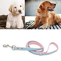 PETSOLA 犬 リーシュ リード 牽引 ロープ 柔らかい 快適 頑丈 耐久性 青