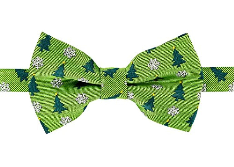 Retreez ClassyクリスマスツリーとSnowflakes Woven pre-tied男の子の蝶ネクタイ