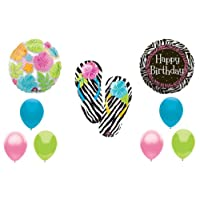 Zebra Flip Flop Luau BIRTHDAYパーティーBalloons Decorations Supplies by Anagram