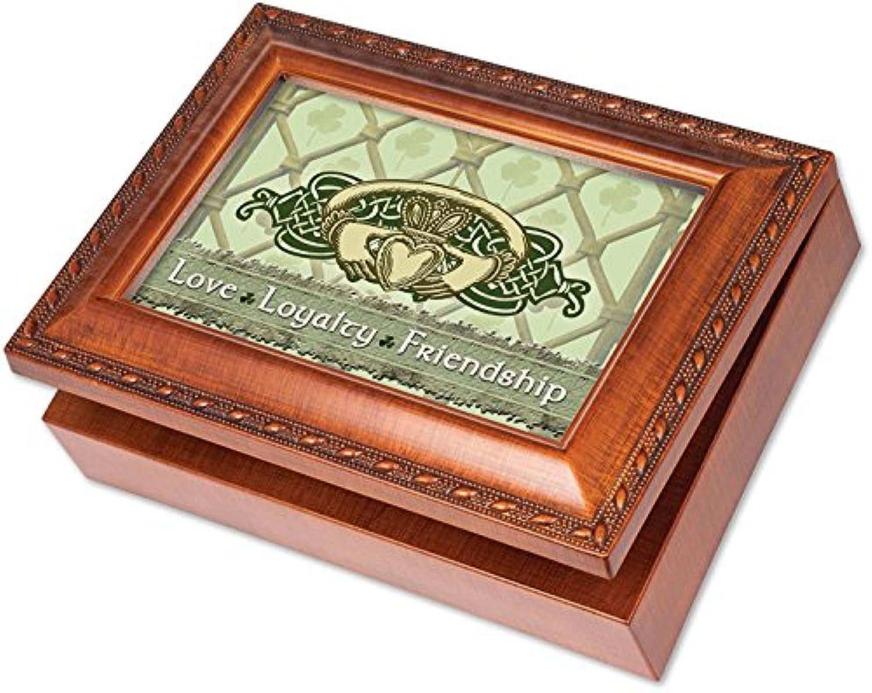 [コテージ ガーデン]Cottage Garden Irish Love Loyalty Claddagh Woodgrain Music Box / Jewelry Box Plays That's an Irish Lullaby MB1860 [並行輸入品]