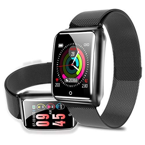 【進化版・輝度調整】スマートブレスレット 心拍計 血圧計 I...