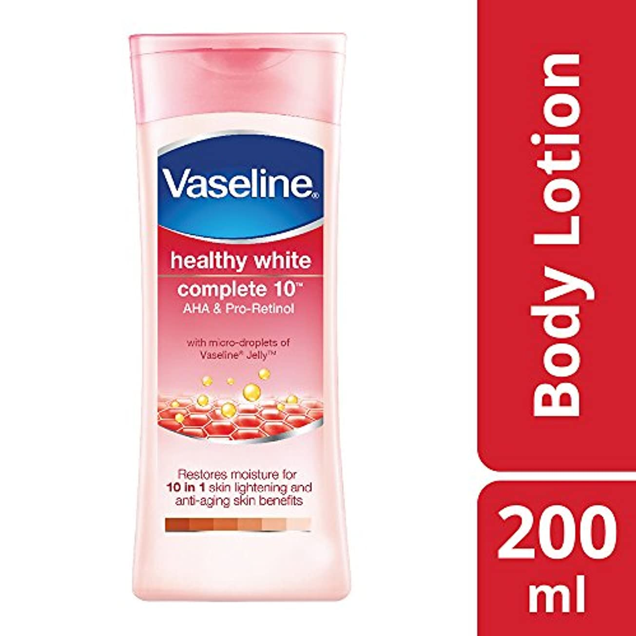 血まみれのバイアス見ましたVaseline Healthy White Complete 10 AHA and Pro Retinol, 200ml