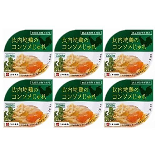 秋田名産 比内地鶏のコンソメじゅれ 缶詰タイプ〔85g×6〕