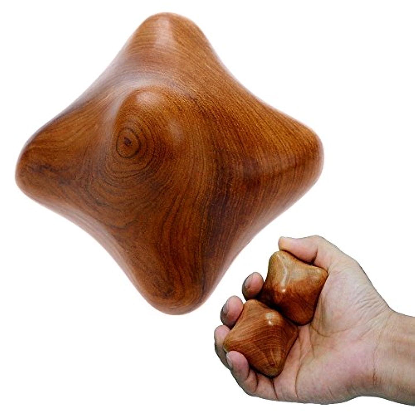 MARUKOA - 2 SET Thai Traditional Reflexology Massage Therapy Fingers Hand Wood Star