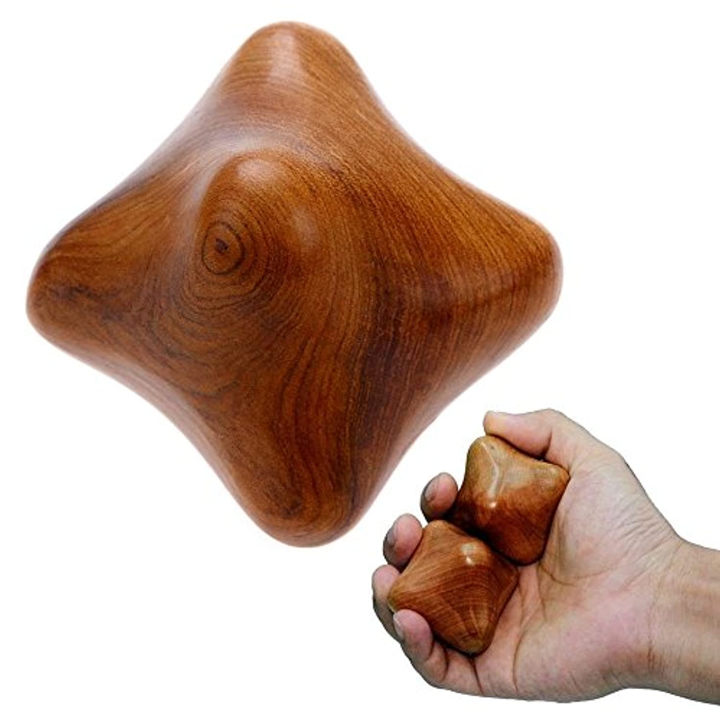 ヨーロッパ勘違いする自発MARUKOA - 2 SET Thai Traditional Reflexology Massage Therapy Fingers Hand Wood Star