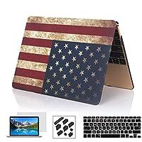 13インチMacbook Airハードケース、ryGOu 4in 1ゴム引きマット仕上げプラスチックケースキーボードカバー付きスクリーンプロテクター、防塵プラグfor MacBook Air 13インチ( a1369and a1466) 13A-MUSF-4