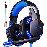 ARKARTECH G2000 ゲーミング ヘッドセット ヘッドホン ヘッドフォン マイク付き ゲーム用 高音質 有線 5.1ch fps PC ps4に対応 ブルー G2000BLUE