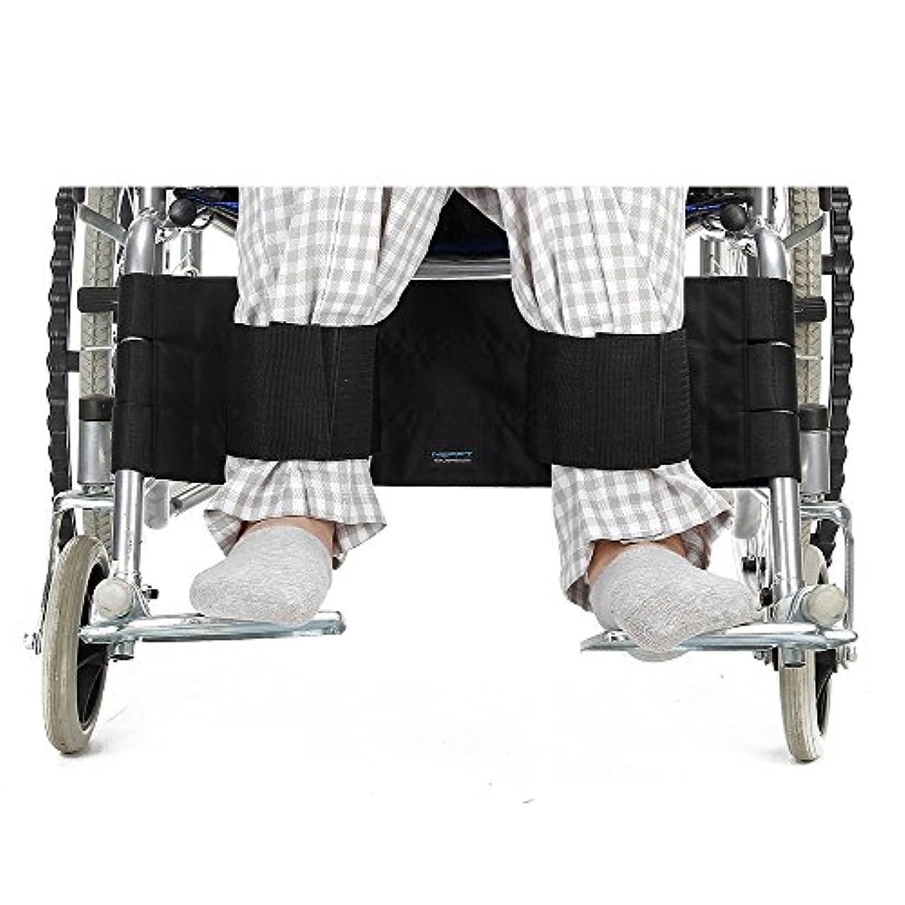 ジャングルずっとむしゃむしゃ車椅子フットレストレッグストラップシートベルト調節可能な安全フットサポートの拘束障害のある患者、高齢者および高齢者 (黒)