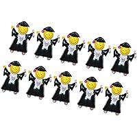 Lovoski 卒業バルーン おもちゃ キット パーティー用品 デコレーション ブラック+ゴールド 10個