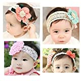 KAKA(TM) 4 Styles Baby Girl's Beautiful Lace Flower Headbands by KAKA