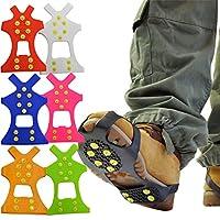 全7色 MRG 靴底用 滑り止め スパイク 【携帯用ポーチ付き】 雪道の転倒防止に 簡単 着脱 子供用 大人用 20.0~31.0cm メンズ レディース
