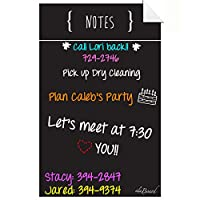 (Black) - Decal Peel and Stick Dry Erase Note Board Black