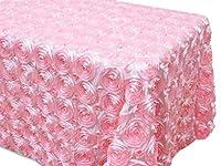ak-tradingテーブルクロス54x 96-inch長方形ローズGrandioseロゼットテーブルクロスTablecover 54Wx96L ピンク