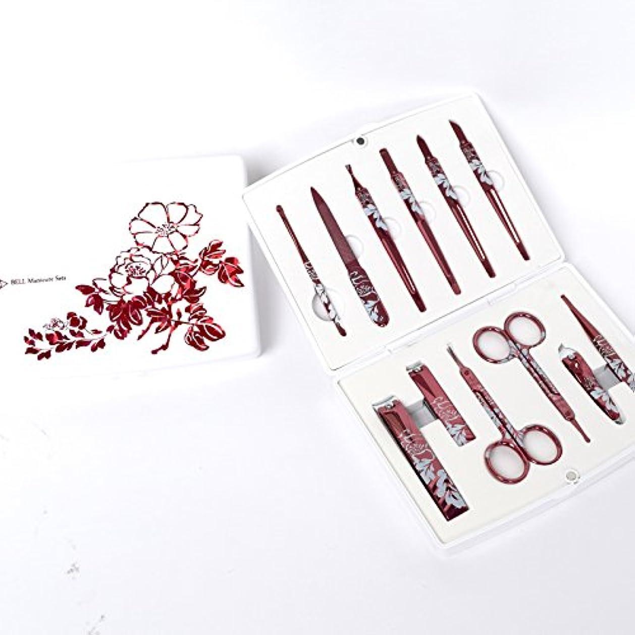 ワイン夜昇進BELL Manicure Sets BM-500A ポータブル爪の管理セット 爪切りセット 高品質のネイルケアセット高級感のある東洋画のデザイン Portable Nail Clippers Nail Care Set