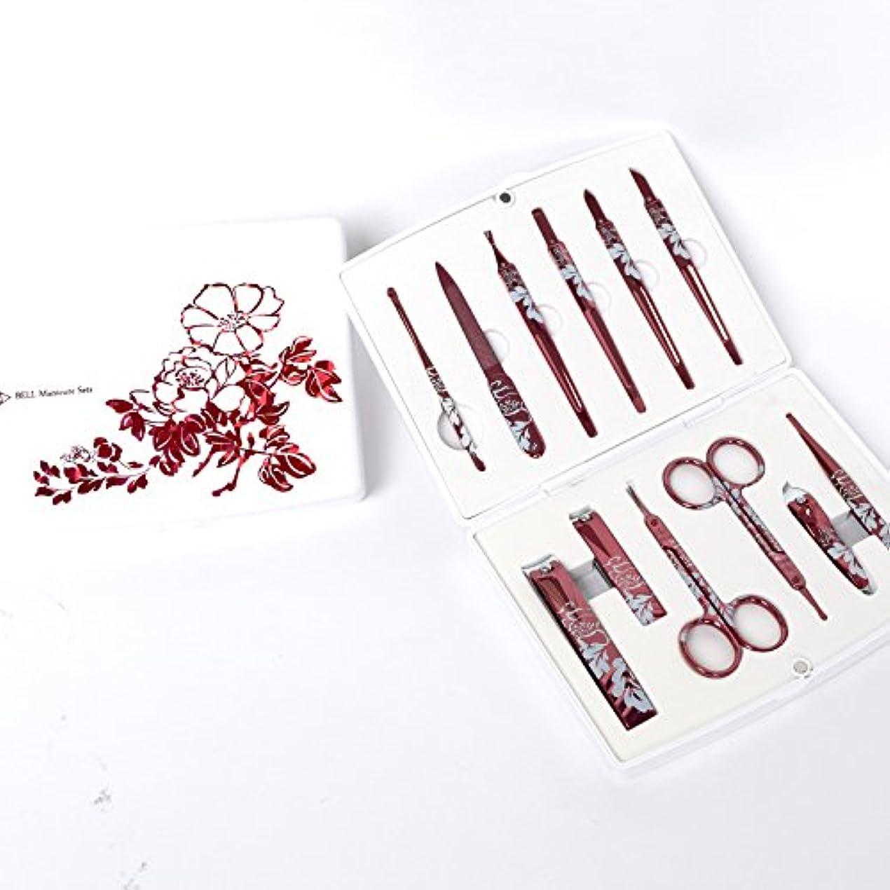 象推進力文献BELL Manicure Sets BM-500A ポータブル爪の管理セット 爪切りセット 高品質のネイルケアセット高級感のある東洋画のデザイン Portable Nail Clippers Nail Care Set