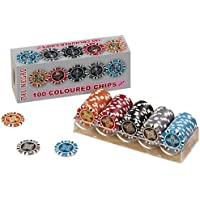100 Dal Negro Casino Chips (14.5g, coloured)