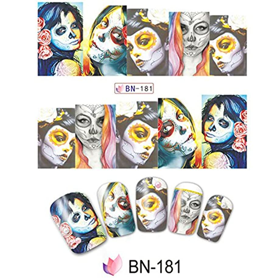 ACHICOO ネイルアートツール 10個 ハロウィーン 頭蓋骨 ネイルラップ 接着剤 ポーランドの箔 セーフ 無毒 脱落しにくい BN-181