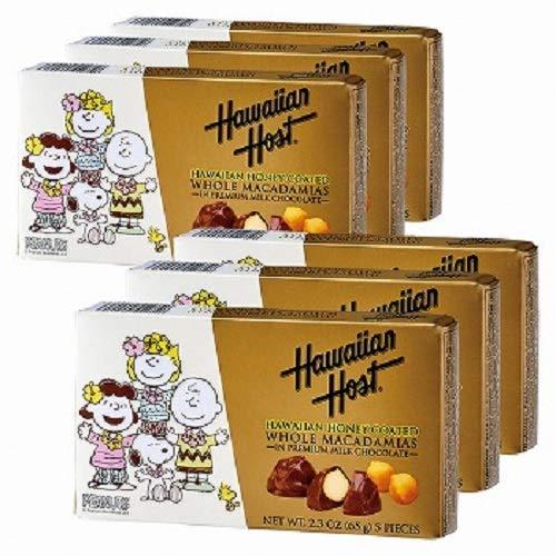 ハワイアンホースト(Hawaiian Host) スヌーピーフレンズ ハニー マカデミアナッツチョコレート 6箱セット【ハワイ 海外土産 輸入食品 スイーツ】