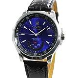 腕時計 メンズ 革ベルト メンズウォッチ バックスケルトン ビッグフェイス自動巻き腕時計 ブルー