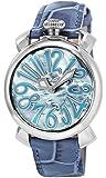 [ガガミラノ]GaGa MILANO 腕時計 マニュアーレ40mm ブルーパール文字盤  カーフ革ベルト 5020.11-BLU  【並行輸入品】