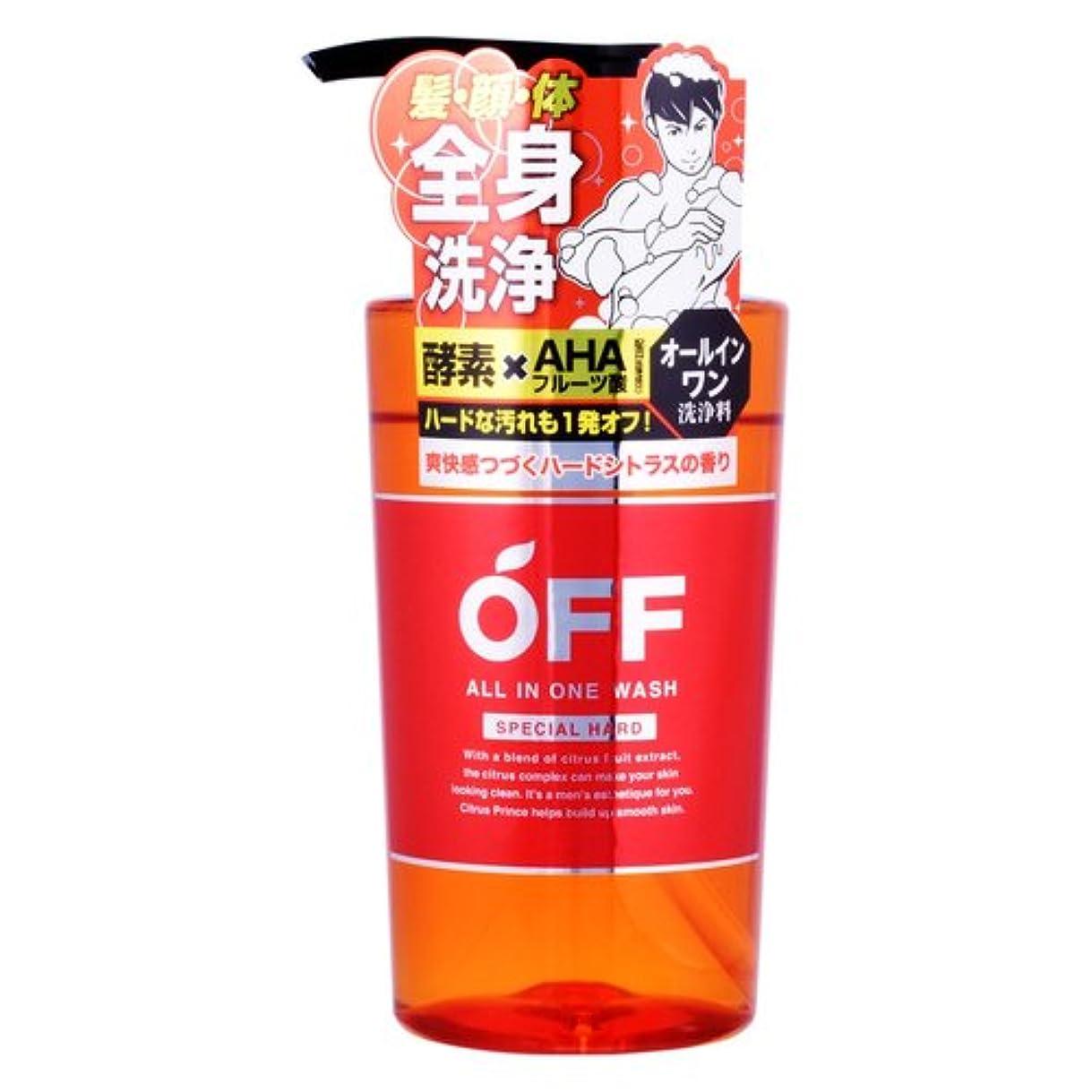 洗う好意的具体的に柑橘王子 オールインワンウォッシュハード 360mL