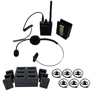 Ronk デジタルワイヤレスガイドシステム6 【受信機6台+送信機1台+充電器1台セット】RG2401SV+RD2401R 送受信機セット 620087