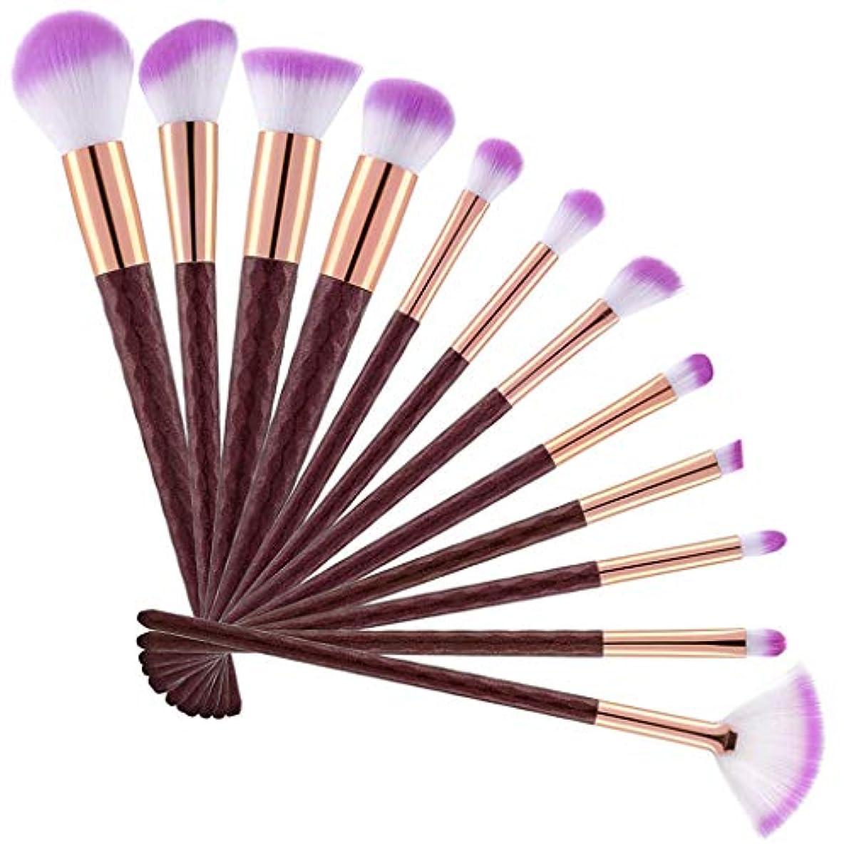 シダブロックコンプリート12化粧ブラシマーメイド化粧ブラシ蛍光ハンドル化粧ブラシダイヤモンドブラシ美容化粧道具,Pink