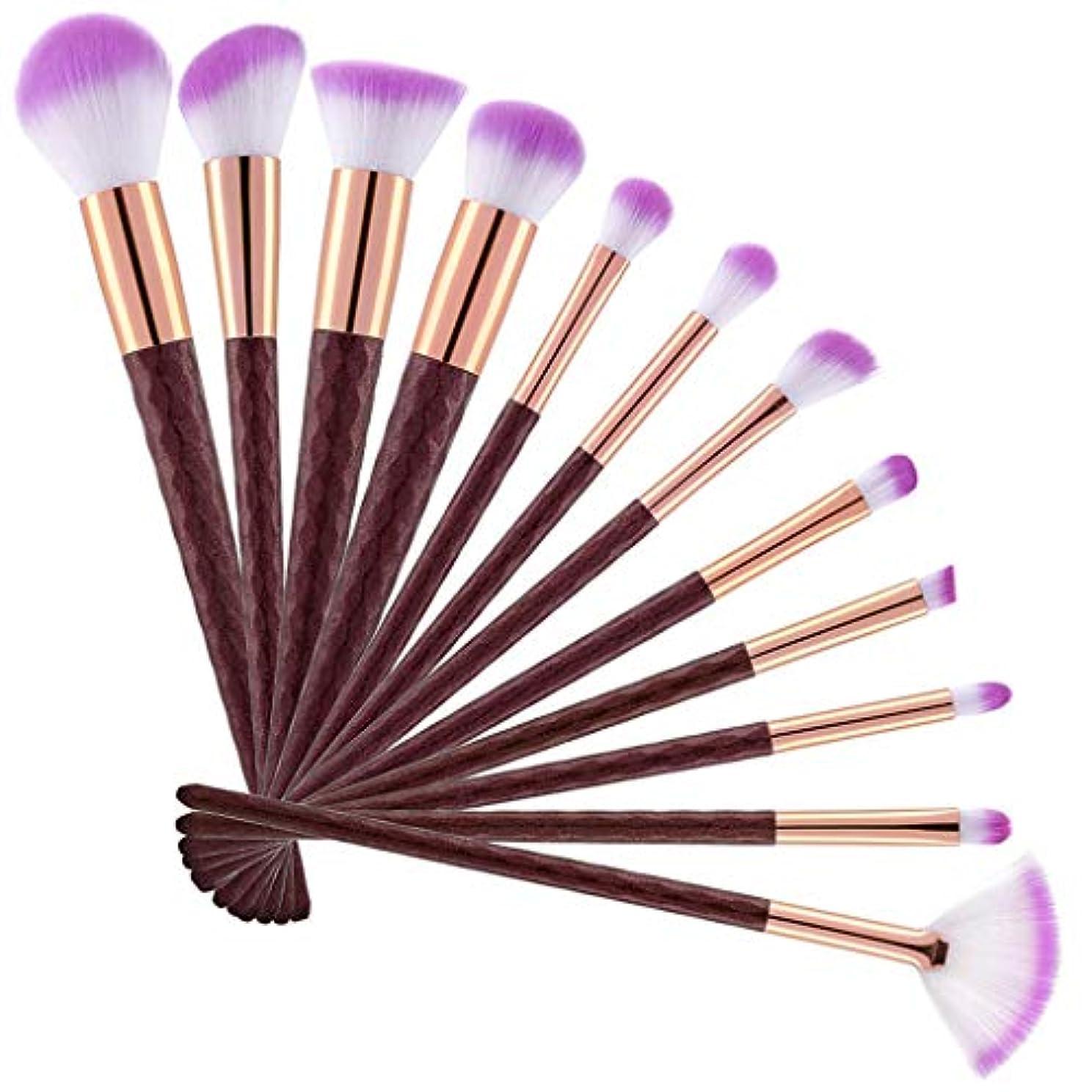 割れ目改修する悪意のある12化粧ブラシマーメイド化粧ブラシ蛍光ハンドル化粧ブラシダイヤモンドブラシ美容化粧道具,Pink