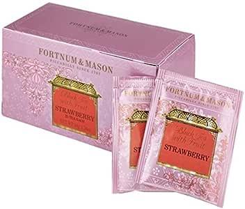 フォートナム&メイソン ストロベリー ティー 25 ティーバッグ (25個入りx1箱) 個包装(Fortnum & Mason Black Tea with Strawberry 25 Teabags x1) [並行輸入品]