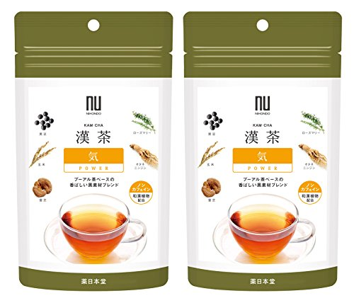 漢茶 気 POWER 2g×6包 2袋セット ノンカフェイン ニホンドウ(薬日本堂)