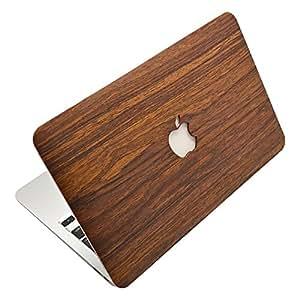 mac book用各サイズ選択可能(air13)木目調スキンシール張付け済みハードカバーGH2-500
