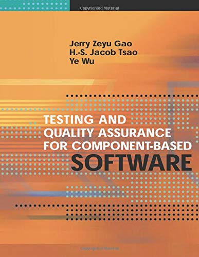 Download Testing and Quality Assurance for Component-Based Software (Artech House Computer Library) 1580534805