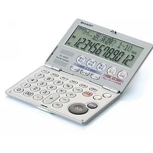 シャープ 金融計算機 コンパクト折りたたみタイプ EL-K622X