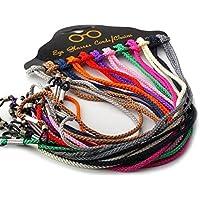 12PCS Colorful Nylon Braided Eyeglasses Chain Neck Strap String Cord Sunglasses Reading Glasses Rope.