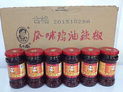 老干媽風味鶏油辣椒(フウミジユーラージオ・鶏肉入りラー油)280gx24瓶/ケース