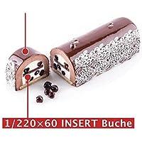 超柔軟シリコンケーキ型 insertBuche 細長ロールケーキ型225cm半月トヨ型 シリコマート silikomart 1/225insertBuche