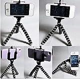 iphone用三脚ホルダー デジカメスタンド スマホ対応 モバイル iphone5 アイフォン5 クネクネ三脚