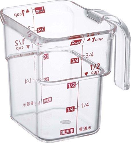 山崎実業『計量カップ 段々 米計量カップ レッド(3380)』