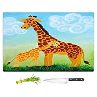 "DIANOCHEキッチンカッティングボードby Njoyアート–キリン Large 15"" x 11"" CB-nJoyArtGiraffes2"