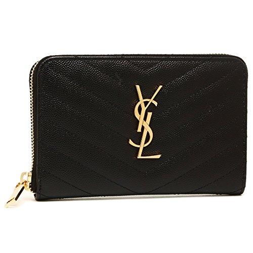 [サンローラン] 財布 レディース SAINT LAURENT PARIS 481407 BOW01 1000 ブラック [並行輸入品]