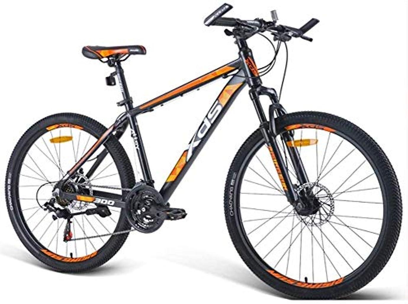 面白い義務限界26インチのマウンテンバイク、アルミ21スピードマウンテンバイクのデュアルディスクブレーキ、大人アルパイン自転車、滑り止めのバイク、ハードテイルマウンテンバイク