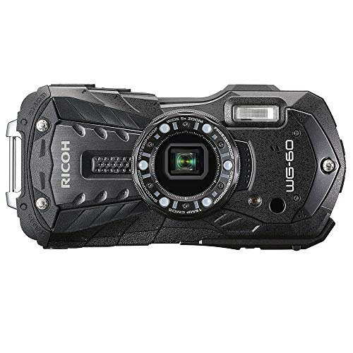RICOH 防水デジタルカメラ RICOH WG-60 ブラック 防水14m耐ショック1.6m耐寒-10度 RICOH WG-60 BK 03825
